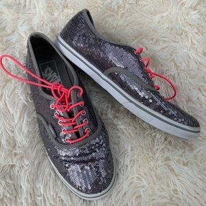 Vans silver sequin sneakers